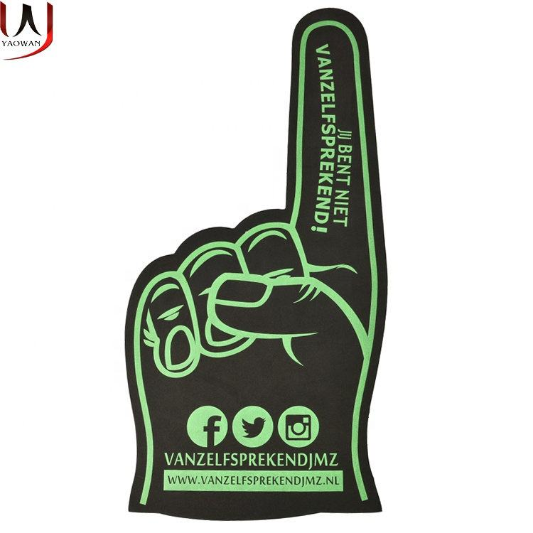 Factory customize EVA big foam finger cheering foam hand for promotion advertising fans party events gift