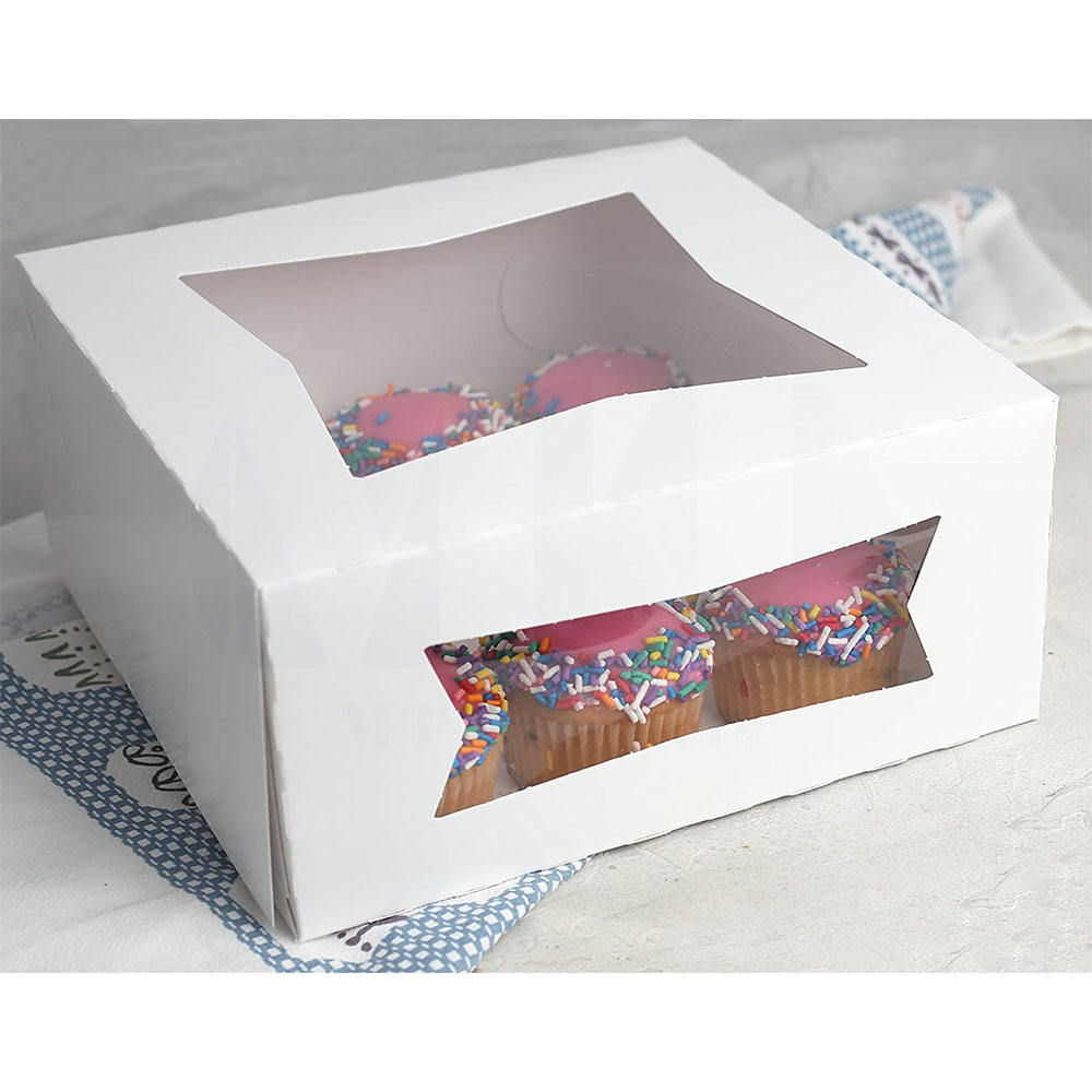 Two Windows Paperboard Bakery Box for Maximum Product Visibility