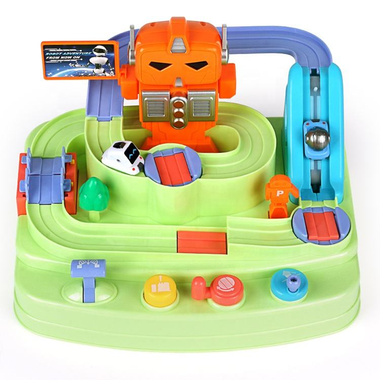 Robot adventure games battery educational maze toys for kids car track toys