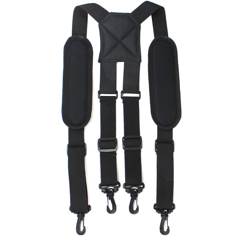 2 inch heavy duty durable tool belt loop suspenders solid black X back trousers mens suspender belt for sale