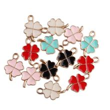 cheapest small colorful four leaf clover lucky charm for girls gift