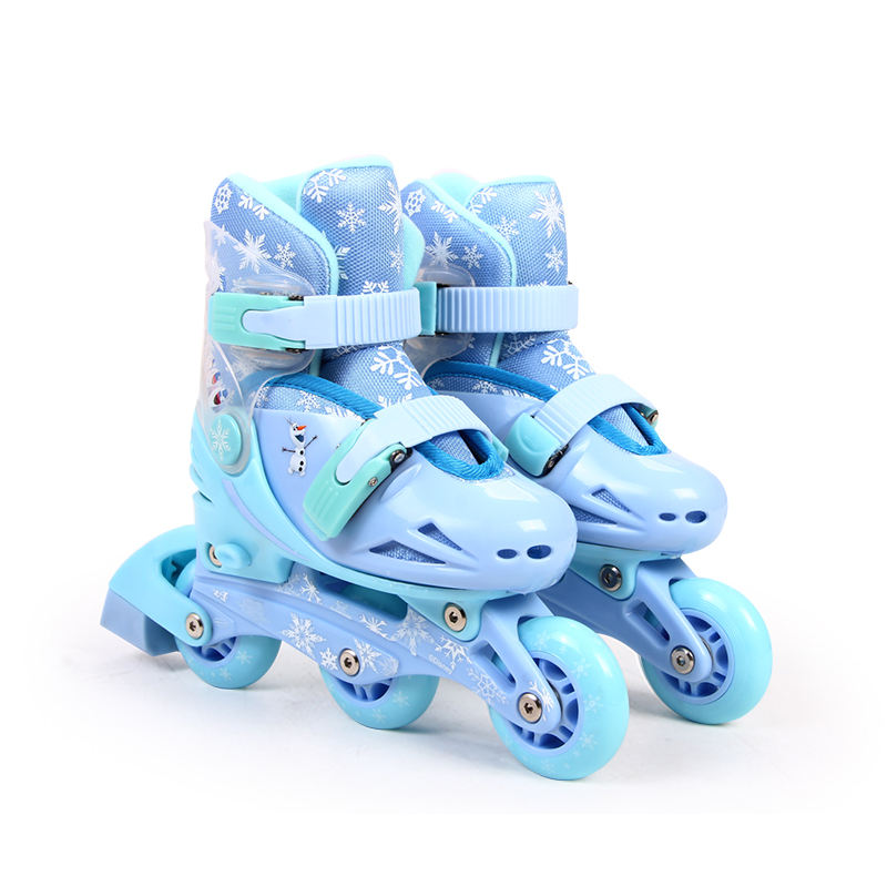 Disney Frozen princess adjustable Flashing Safe Rollers Skate Shoe high quality inline skate for kids