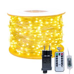 1000 LED remote control ip65 waterproof micro invisible outdoor garden decorative string lights