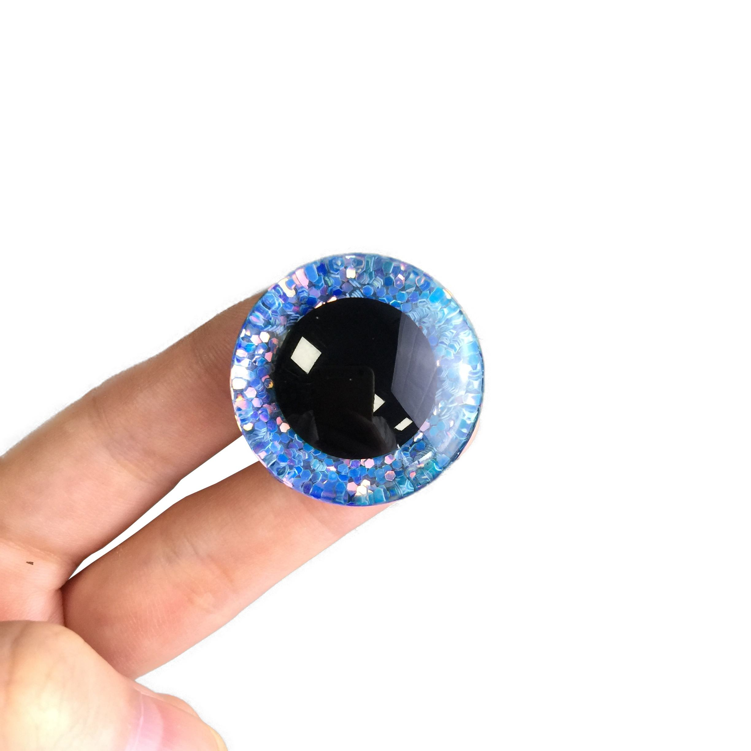 Plastic Safety Eyes Glitter Round Eyes for Doll Teddy Bear Puppet Toy Plush Animal and DIY Craft Making