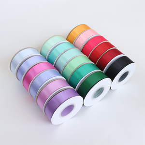 Usine simple face 100% polyester 196 couleurs 1 pouce 25mm ruban de satin