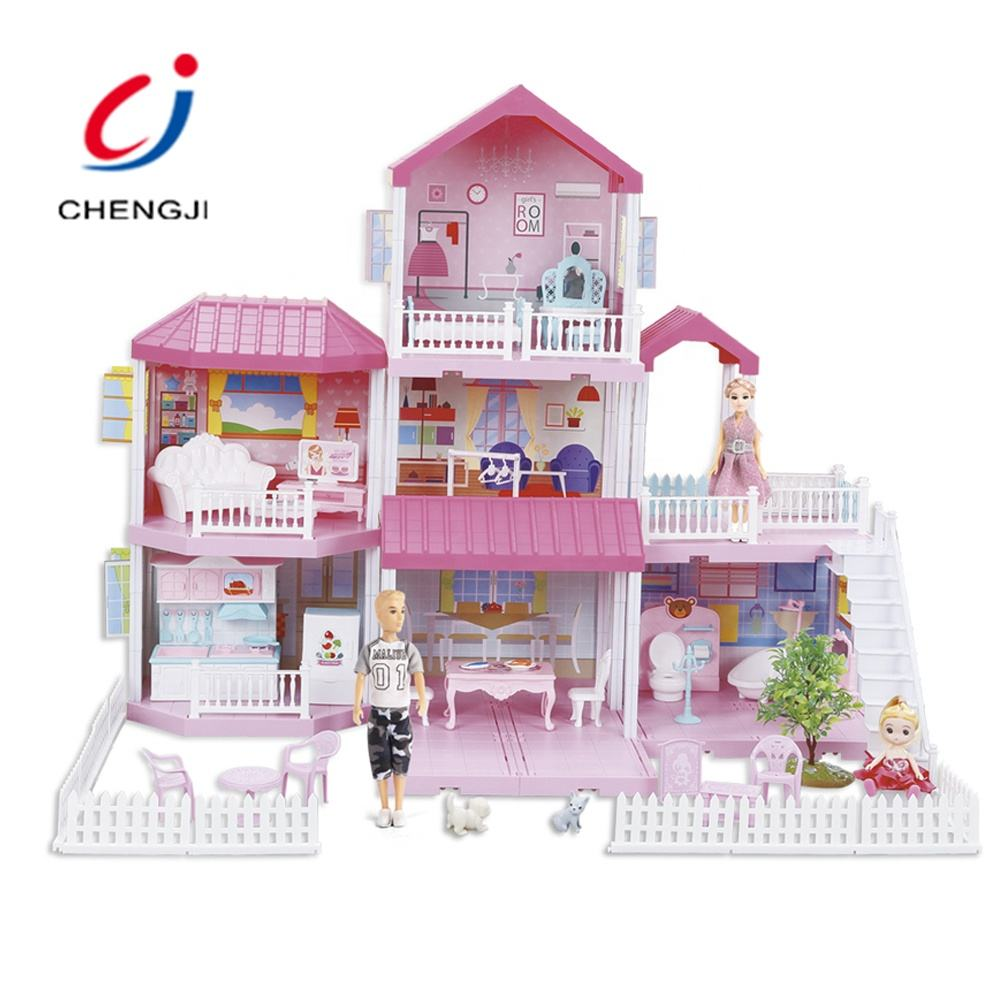Wholesale Pretend Play Villa Toys, Girls Beauty House Miniature DIY