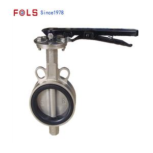 High Quality PN16 Manual Operation Lug Type Butterfly Valve With Hand Lever for Water Oil Gas Pipeline