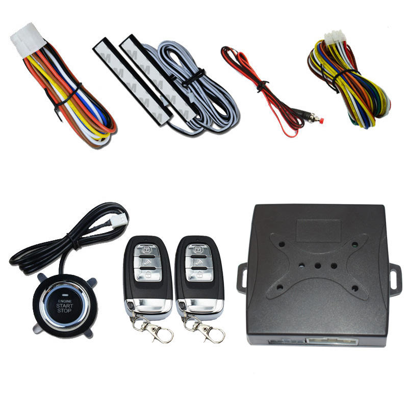 Good quality Car Alarm System Keyless Entry Locking Push Button Engine Smart key engine start stop keyless entry system