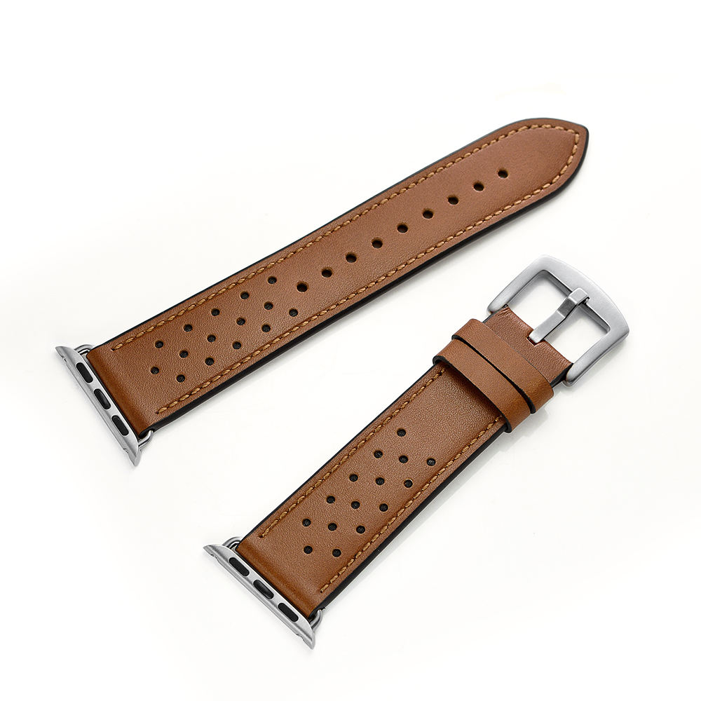 Free sample OEM factory price real leather watch bands strap for apple watch