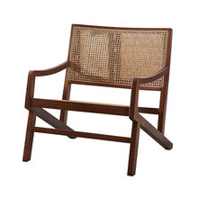armchair wooden rattan chair Made in China for garden