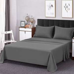 Ready to ship wholesale egyptian cotton 1800 thread count microfiber bed sheet sets