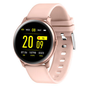 Watch Factory Kingwear CE ROHS Pedometer Health Blood Pressure Heart Rate Bluetooth Sports KW19 Smart Watch For Men