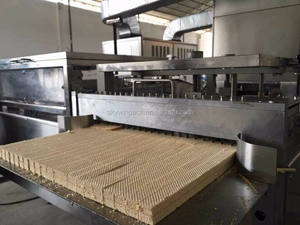 Full Automatic Wafer Waffle Biscuit Making Machine bakery equipment