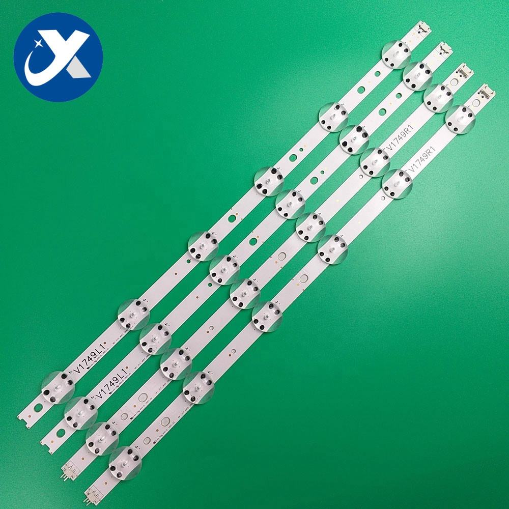 lcd led tv spare parts lg 49uj tv backlight lg 49uj6510 led bar strips V17 49 R1/L1 tv kit back light