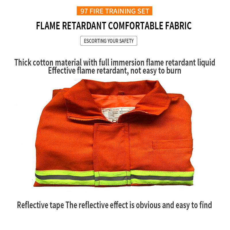 Fire Fighting Suit/Uniform Fireman Anti-corrosion Fire Fighting Suits With Thick Pure Cotton Materials DTE Shenghui