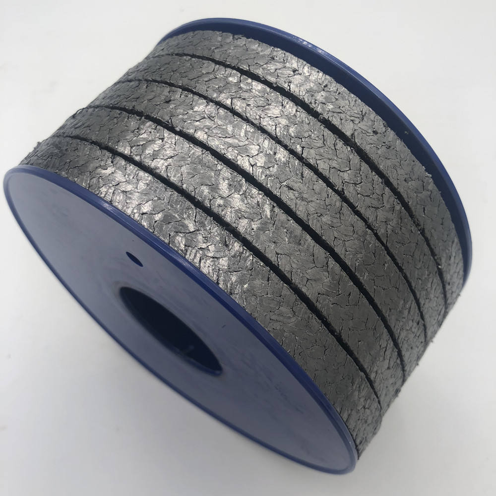 Packing Graphite Gland Packing Pure Graphite High Pressure Gland Packing With Metal Wire Reinforced Braided