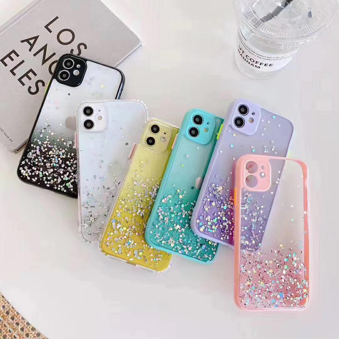 For iPhone 11 Glitter Case, 2020 Bling Sparkle Sequin Star tpu 2 in 1 Phone Case For iPhone 11 Pro max