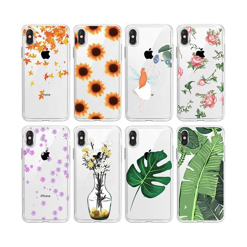 Amazon Best-selling Sunflower Phone Case Tropical Green Leaf Printed Phone Case