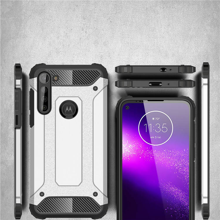 Dual Layer Protective Armor Case for Motorola Moto G8 Power Shockproof Cellphone Cover
