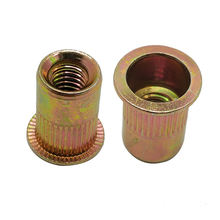 Wholesale special ODM rivet nuts for hardware m3 m12 m8 10mm m5 m6 full threaded hexagon flat head insert aluminium rivet nut