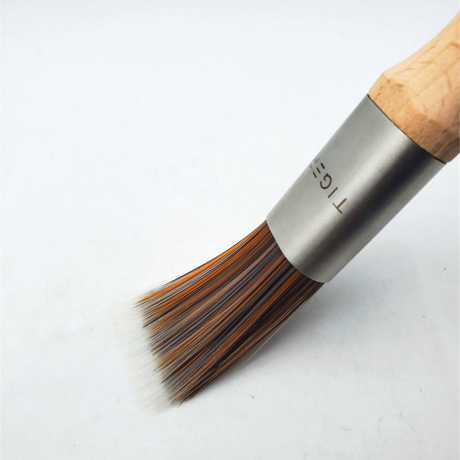 hot sale high quality factory outlet Customizable logo wooden handle Seamless paint brush