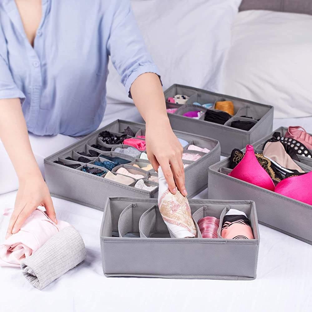 Home storage non-woven fabric dividers lingerie underwear drawer organizer