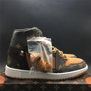 Wholesales Hot Sale 1 Men Basketball Shoes Top Quality Unisex Outdoor Casual Shoes Brown Luxury Brand Powder US5-11