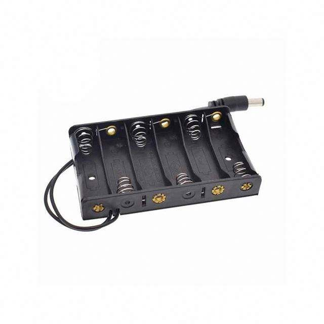 New 6 x AA Battery Case Storage Holder With DC2.1 Power Jack Futural Digital Hot Selling F35