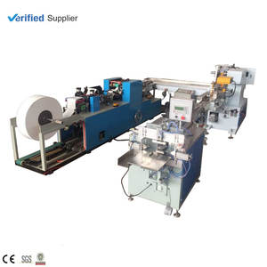 Automatic Pocket Tissue Folder Poly Bag Package Machine