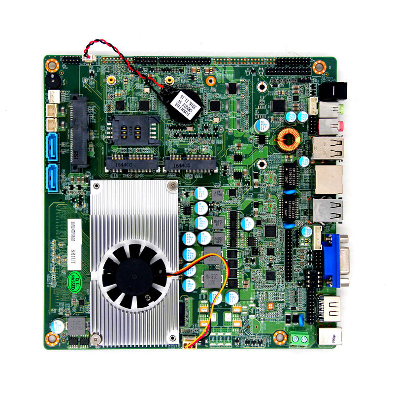 <span class=keywords><strong>Mini</strong></span> <span class=keywords><strong>itx</strong></span> J1900 industrielles lüfter loses Motherboard Dual Display 6com Port Mainboard