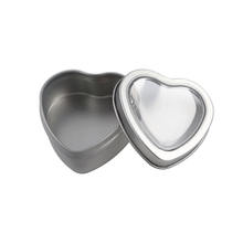 Custom small heart shape candle metal gift tin boxes