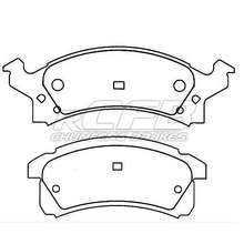 D834 car brake pad disc for Cadillac&Chevrolet&GM