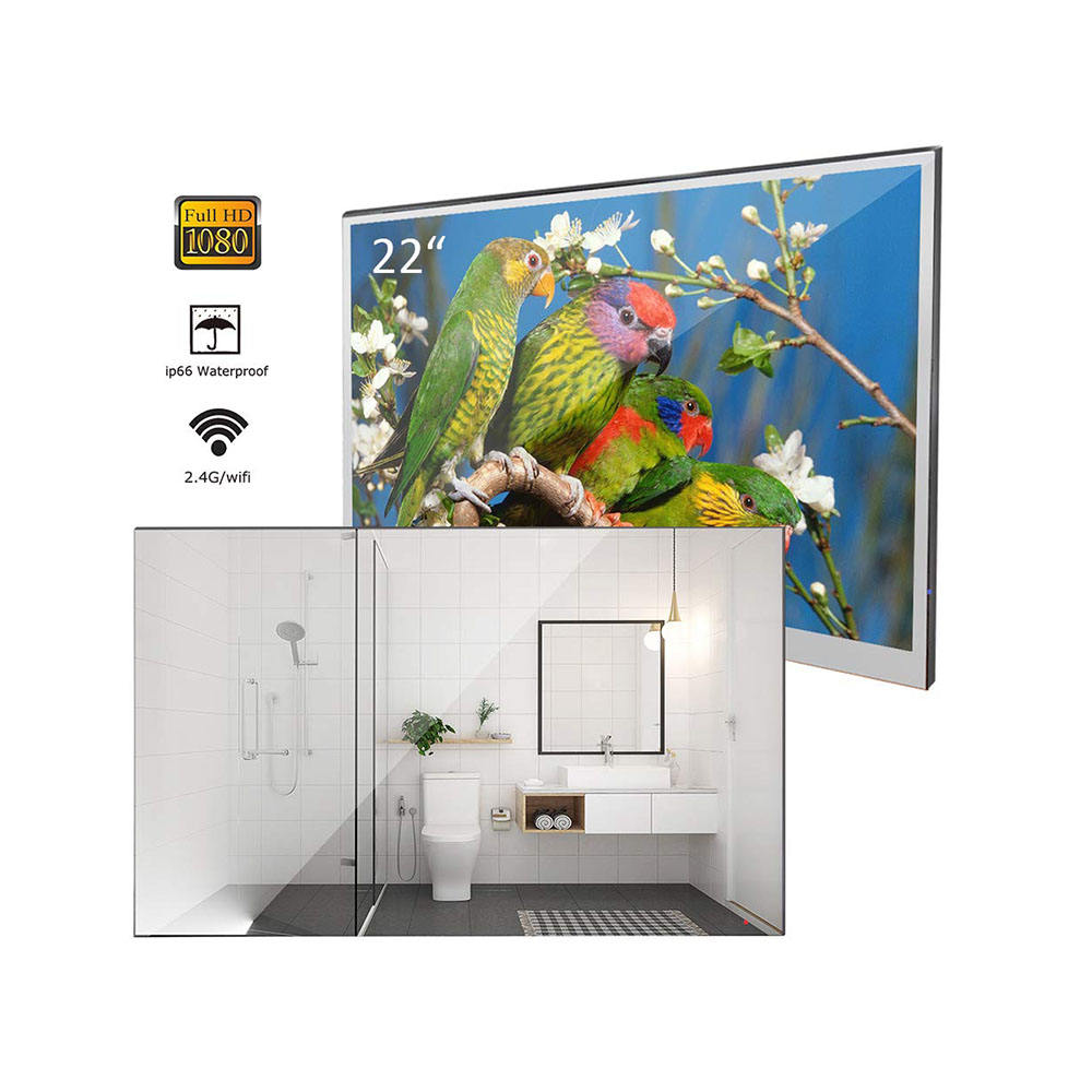 Television Smart Soulaca 22インチWaterproof TV Bathroom Magic Mirror <span class=keywords><strong>LED</strong></span> TV