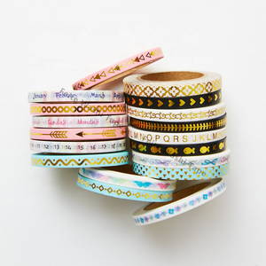 Korean Stationery Deco Masking Thin Tape Skinny Gold Foil Washi Tape