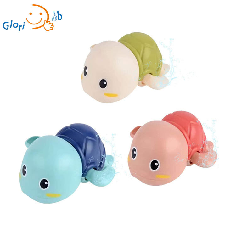 Baby Bath Toys Wind up Swimming Turtle Toys for Toddlers Floating Water Bathtub Shower Toys