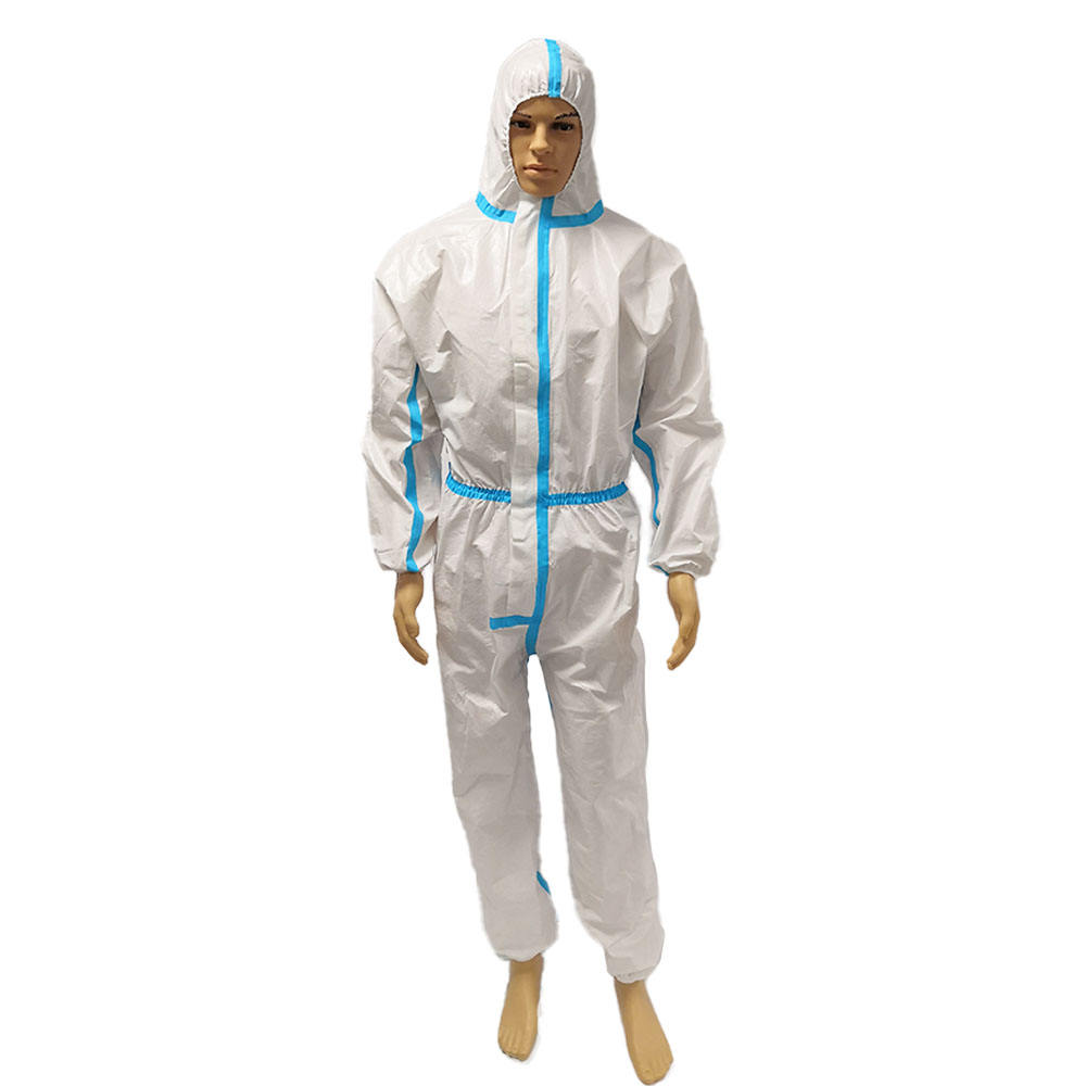 safety coverall suit short sleeve waterproof bib coverall washable / reusable coveralls