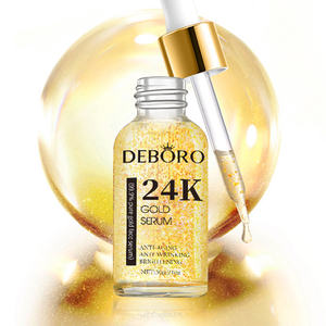 Reine Goldfolie Essenz Serum für Gesicht Hyaluronsäure Feuchtigkeits Anti-Aging 24k gold serum bleaching private label