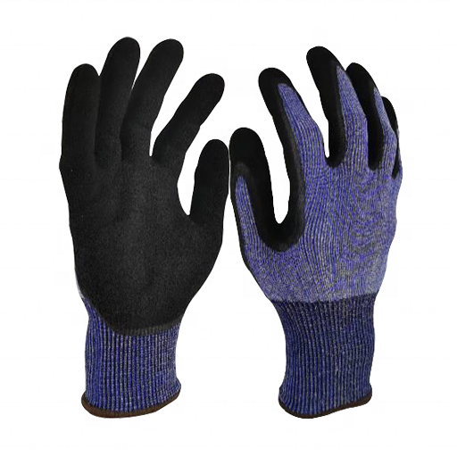 Newly polyester palm coated industrial safety work wear gloves premium cut resistant glove