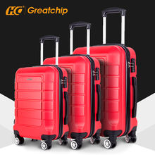 Abs hard 360 degree travelling bags trolley carry on travel suitcase  sets hardshell luggage bag cart