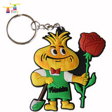 Factory wholesale custom pvc 3d key chain soft rubber keychain