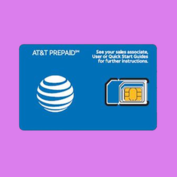 AT&T Up to 22 GB of 4G LTE Data Prepaid Travel SIM Card with 7 Days service in USA, Canada and Mexico-D