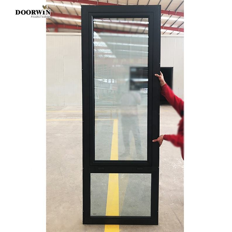 Factory thermal break low moq Powder coated black aluminium windows aluminium windows and doors