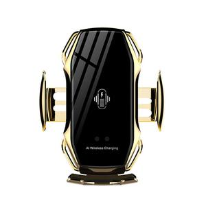 Gold Car mount wireless charger holder 10w automatic function phone holder for iPhone for Samsung