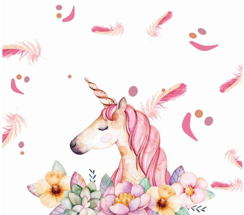 Amazon Hot Sale Birthday Party Photography Backdrop Unicorn Birthday Photo Background