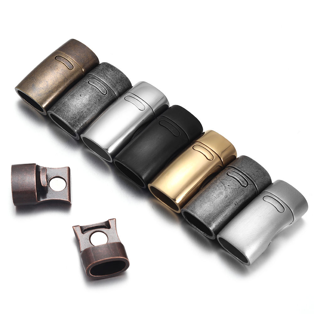 Stainless Steel Magnetic Flat Square Leather Lobster Clasps Clasp For Bracelet Making