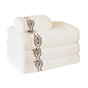 New hotel living towel 100 cotton feel 5 star luxury spa hotel home towel set for bathroom
