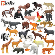 Cheap shantou plastic wild toy farm wildlife model plastic animal