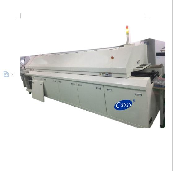 Hot air cheap SMT Reflow oven 8 zones , reflow oven profiler for pcb mounting machine