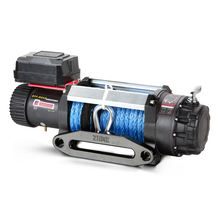 12500lbs pull capacity 4x4 application electric 12v power source cable winch with synthetic rope