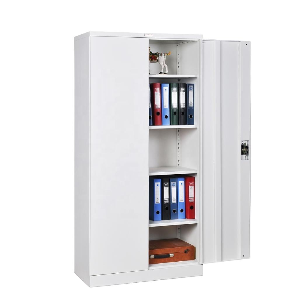 China factory supply office steel storage cabinet furniture 2 swing doors steel filing cabinet